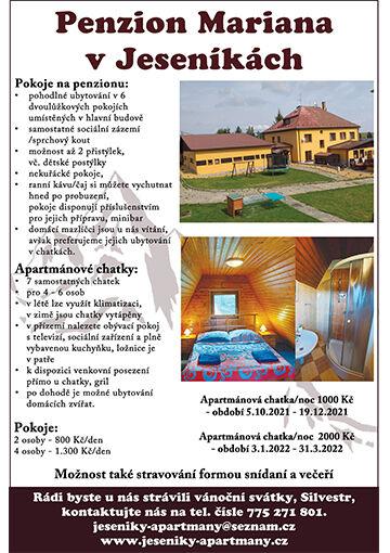Apartmány Jeseník